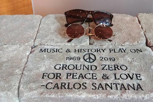 Carlos Santana Woodstock Stone with filmmakers sunglasses