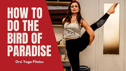 Here it is an explanation on how to do the bird of paradise. (Svarga Dvijasana). This pose is a challenge for your balance and for your flexibility and focus