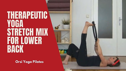 You can perform these series of exercises, in case you have tension or pain in your lower back