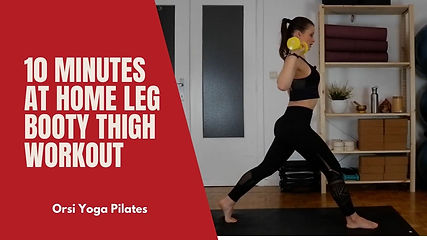 10 minutes at Home Leg Booty Thigh Workout