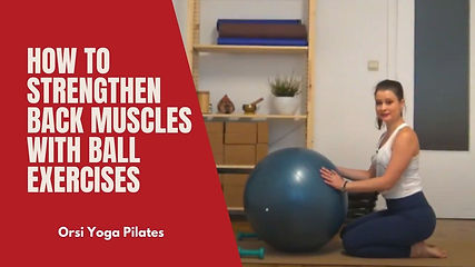 How to Strengthen Back Muscles with Ball Exercises | Swiss - Stability - Physio Ball