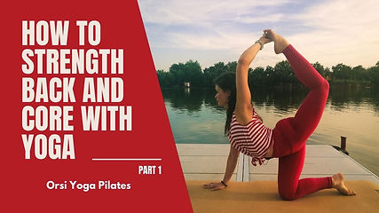This yoga flow is containing asanas keeping the back and the abdominal strength in focus.