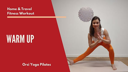Orsi performing a yoga and pilates exercises to demonstrate what is this video about