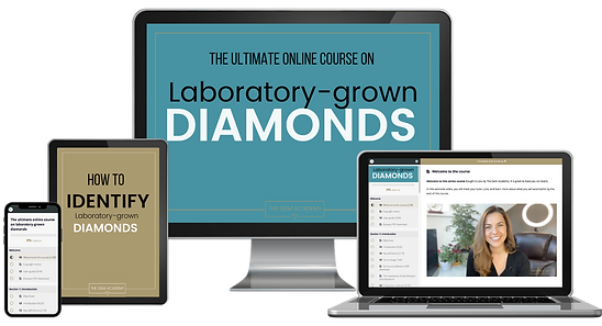 Lab grown diamond online course by The Gem Academy - written and presented by gemmologist Julia Griffith FGA DGA EG