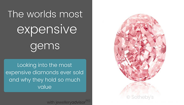 Discover world record breaking gemstones sold at auction in this online video webinar by Julia Griffith - gemmologist at The Gem Academy gemology education