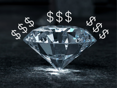 How much cheaper are laboratory-grown diamonds compared to natural diamonds?