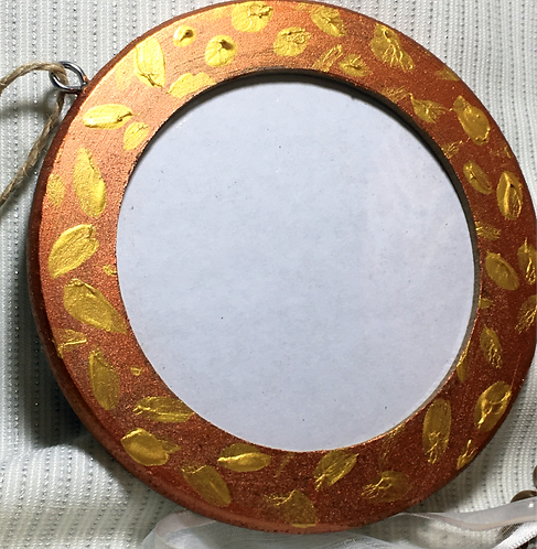 Shimmering Lights Hand Painted Photo Frame Ornament