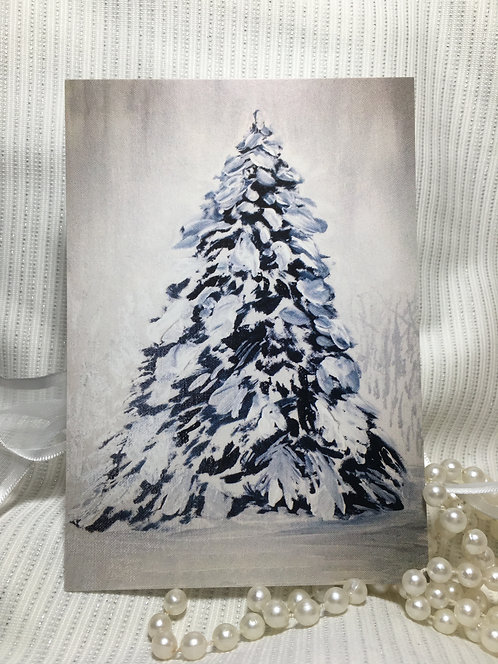 White Christmas Tree Fine Art Print