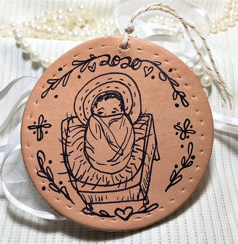 2020 Baby Jesus Leather Ornament