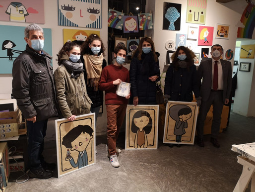 Il Rotary Mede-Vigevano aiuta la pediatria di Vigevano con l'arte di Ale Puro