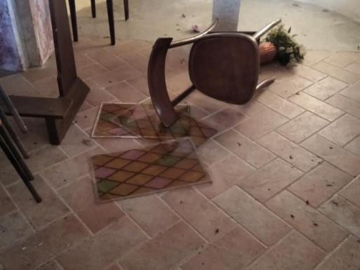 San Giorgio: le chiese di San Paolo e San Bernardo devastate dai vandali