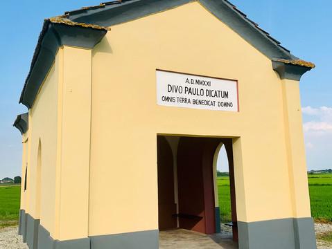 San Giorgio: restaurata la chiesetta vandalizzata