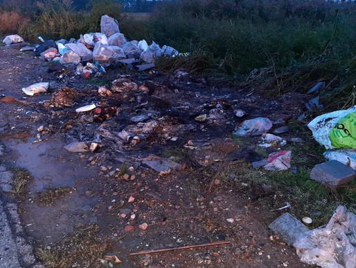 Tromello, alle fiamme la montagna di rifiuti sulla provinciale 77: incendio domato dai pompieri
