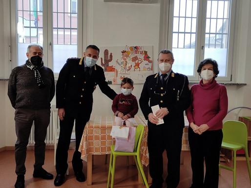 La Polizia locale di Garlasco dona 1100 all'associazione dei bambini leucemici