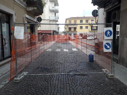 Mortara, via Roma: la lingua di asfalto si allungherà fino a via Cairoli