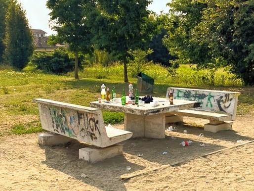 Mortara: ancora vandali nell'area verde di via Mirabelli