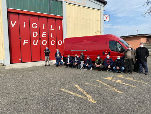 Mede: il Ducato per i pompieri è pronto, equipaggiato in tempi record arriva sabato