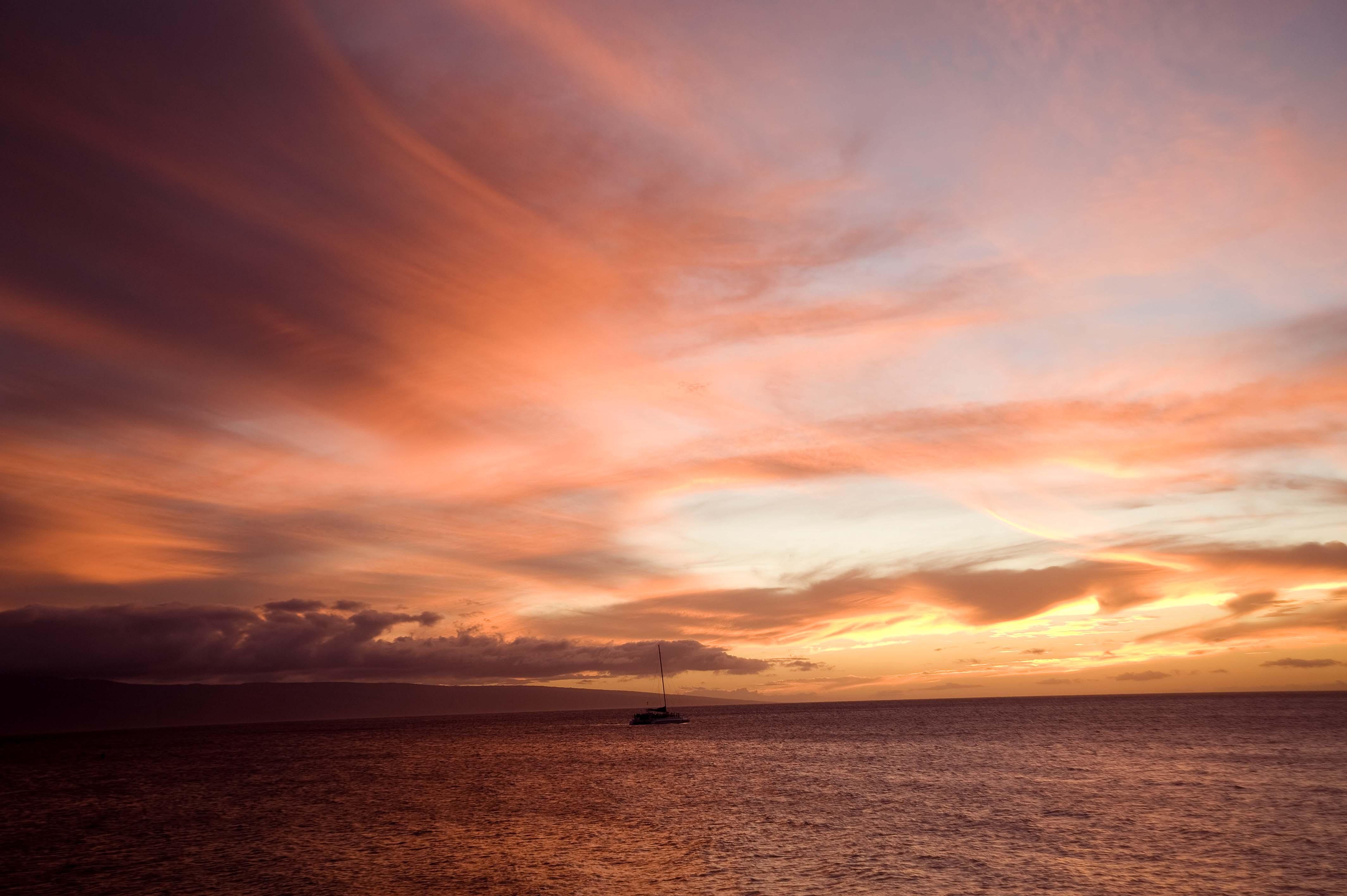 Sunset, West Maui, Hawaii