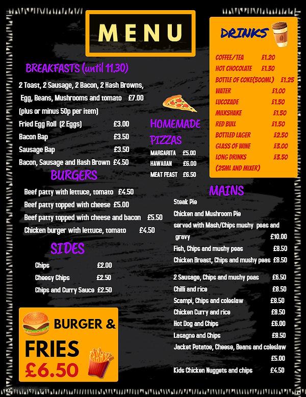 Copy of Fast food menu template - Made w