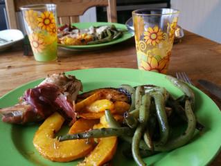Ein Mittagessen ausschließlich von unserem Hof