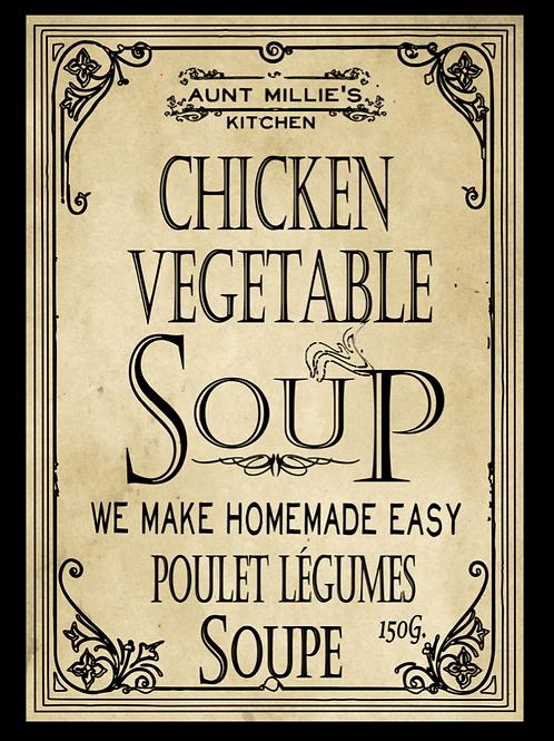 6 cups Chicken Vegetable