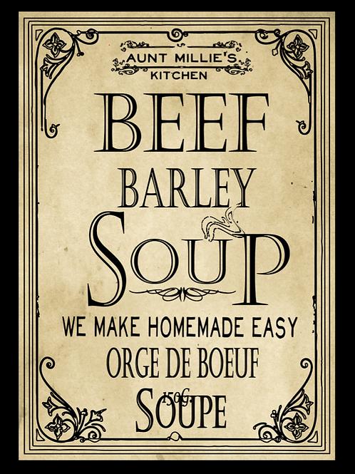 6 cups Beef Barley