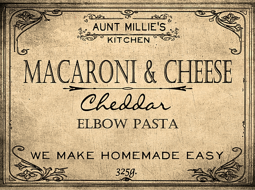 Oven Baked Mac & Cheese Cheddar Elbow Pasta
