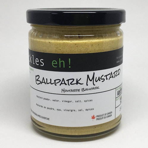 A Pickles Eh! BallPark Mustard