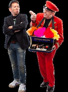 Zauberer im Doppelpack für Feste