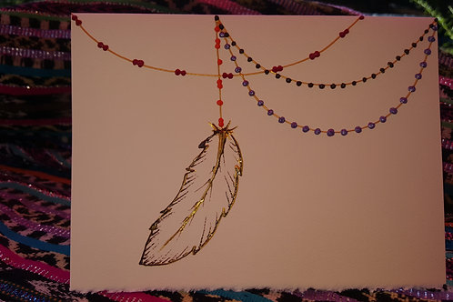 """Dreams On Strings"" - Handpainted Blessing Card (large)"