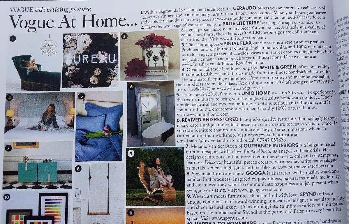 Vogue at home