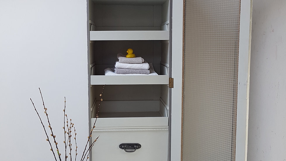 Vintage Styled Linen/Filing Cupboard