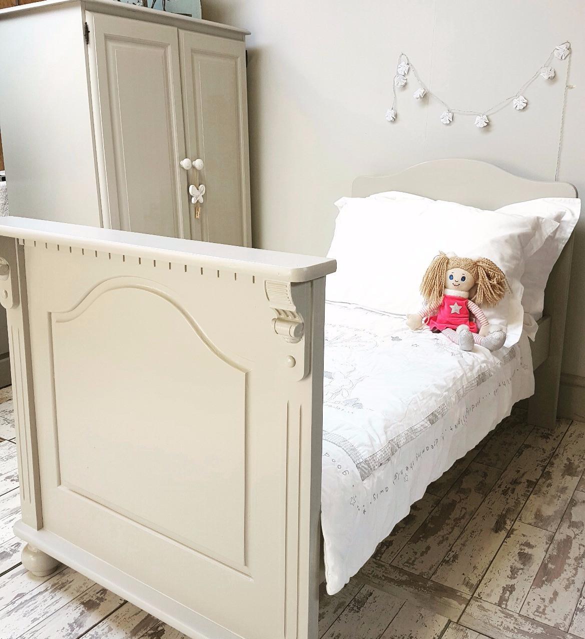 child's wardobe and bed