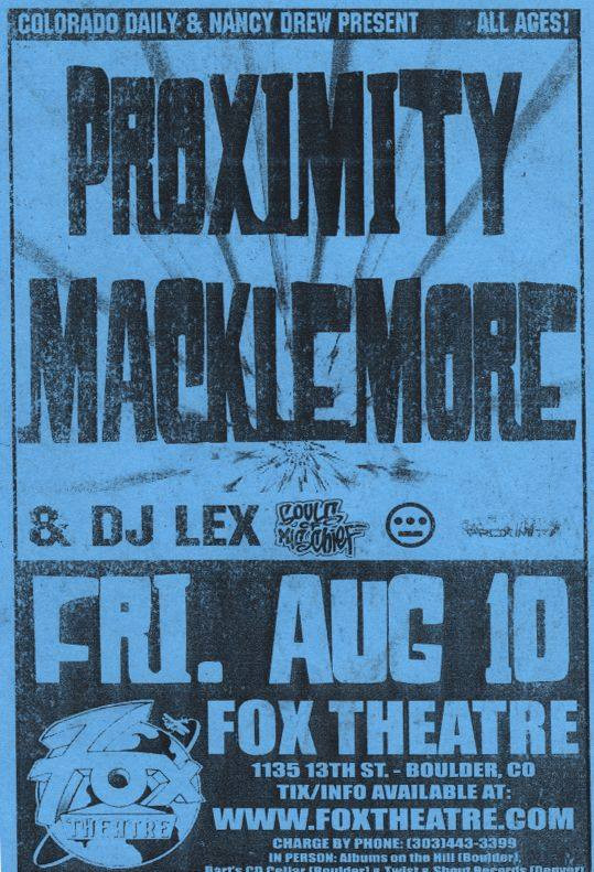 Macklemore at the fox
