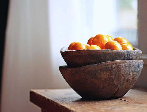 Aged Wood Bowls