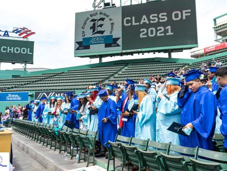 EHS Historic Class of 2021 Graduates at Historic Fenway Park.