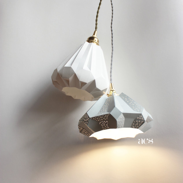 Lampes design papier baladeuse gisèle et baladeuse aki