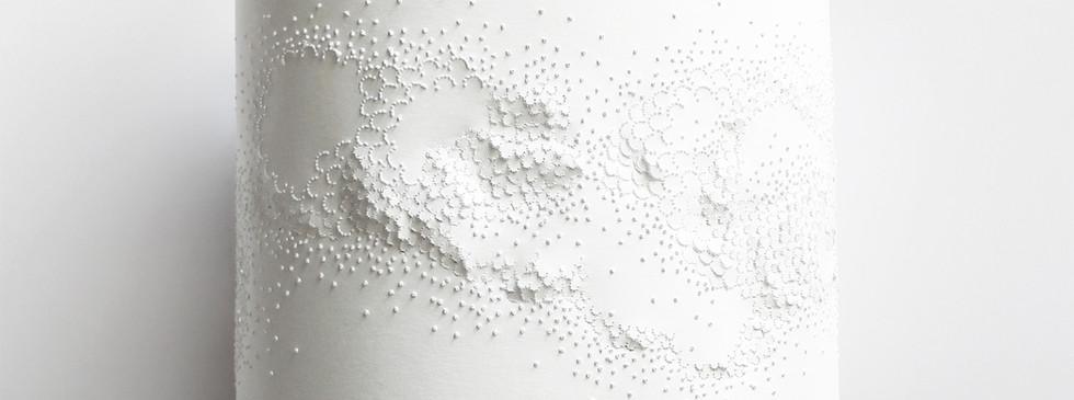 Lampe design papier Baladeuse écaillée