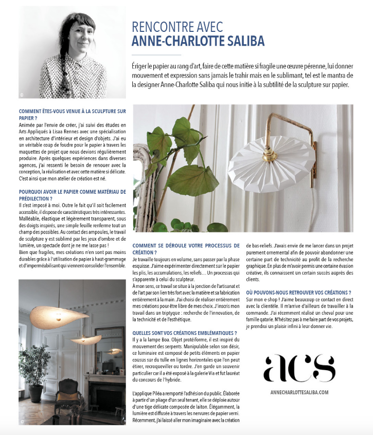 Article Anne Charlotte Saliba Surface pr