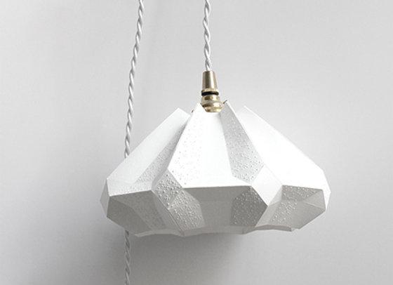 Lampe origami papier baladeuse gisèle