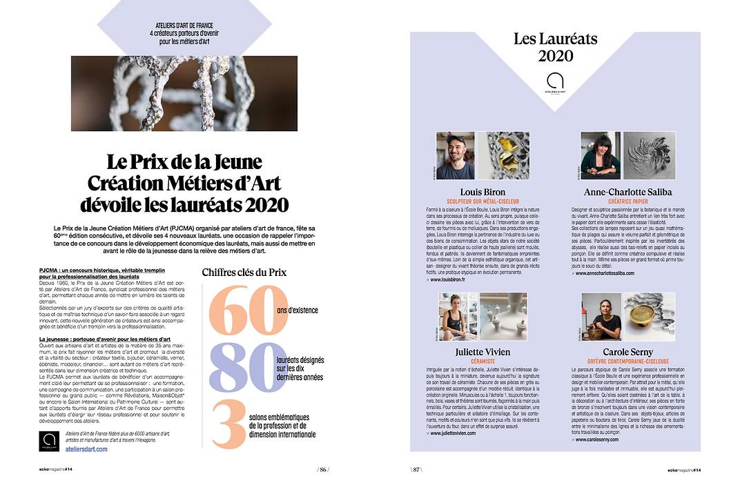 Parution magazine Ecko Anne-Charlotte saliba