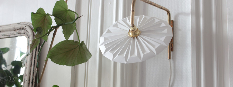 Lampe papier applique piléa