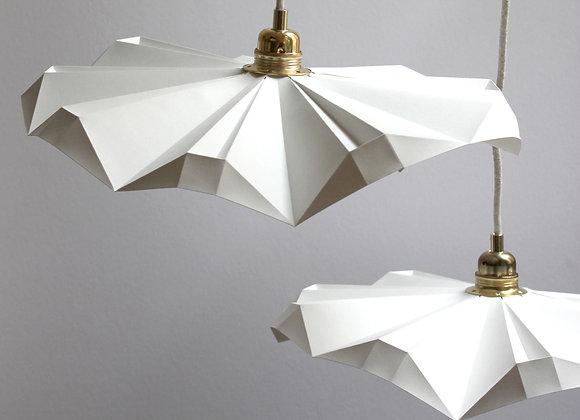 lampe papier petite suspansion envolée blanche