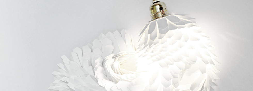 Lampe papier design Boa 1m