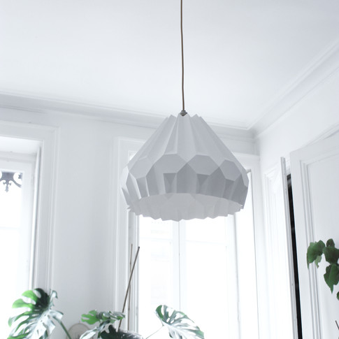 Lampe papier Suspension Aki Asymètrique