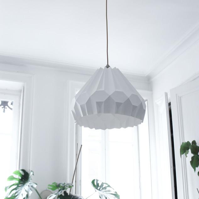 Lampe papier Suspension Aki Asymètrique