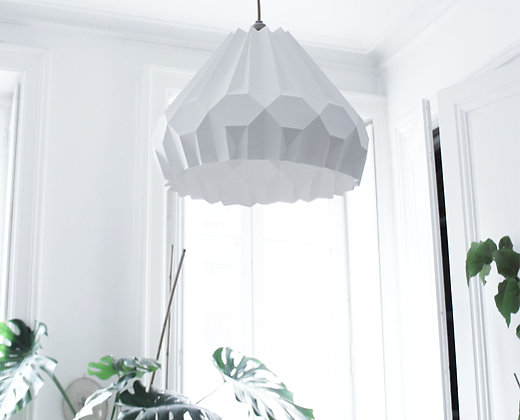 lampe papier origami Suspension aki asymétrique