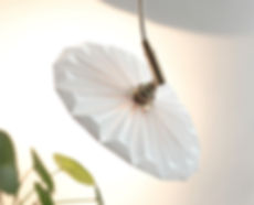 lampe papier suspension  pilea