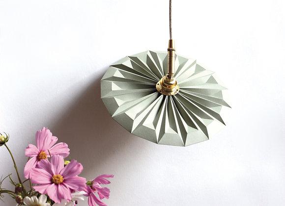 Lampe design petite suspension piléa vert amende
