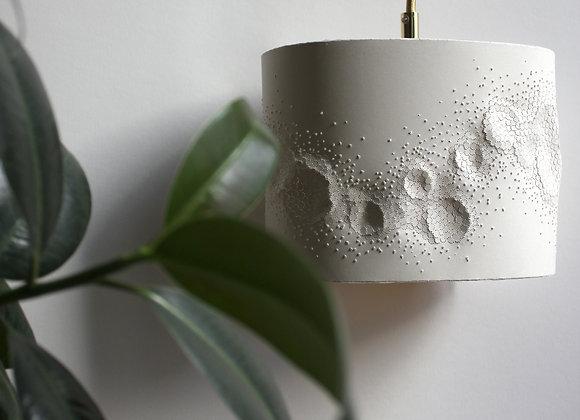 Lampe design papier baladeuse écaillée rose pâle